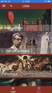 De Chirico e la Metafisica のアプリメニュー画面