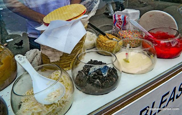 Oblea, doce típico de Bogotá