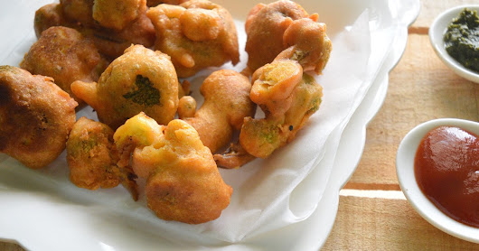 Broccoli Pakora  | Broccoli Fritters