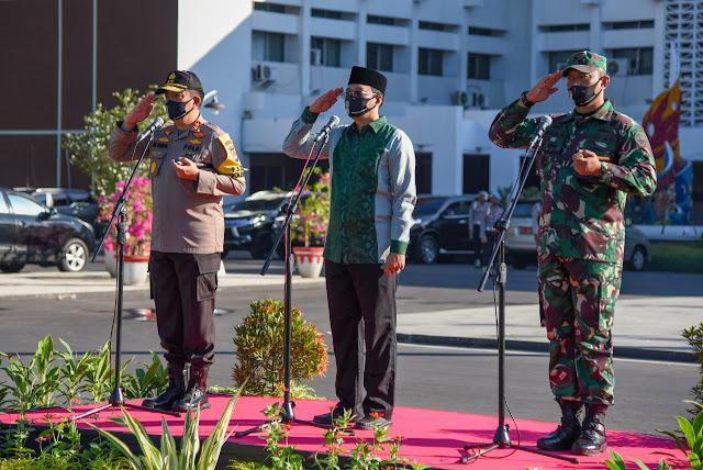 Apel Tiga Pilar, Wujud Sinergi Pemerintah dan TNI, Polri Perangi Covid-19 di Mataram dan Lombok Barat
