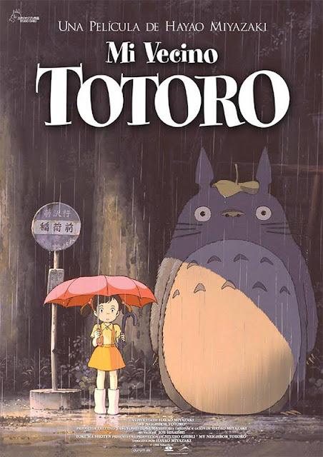 Cartel de la película de animación japonesa de Studio Ghibli Mi vecino Totoro