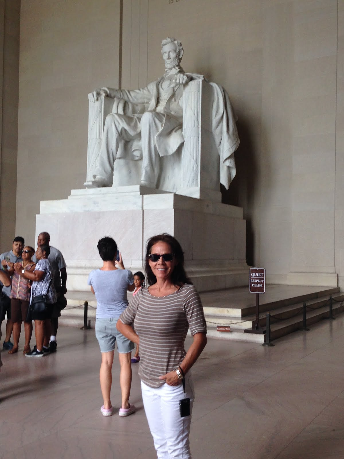 2015: Christine in DC, Hanging with President Lincoln