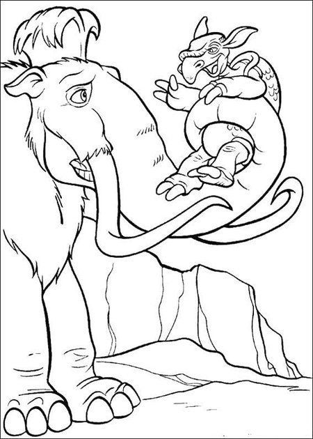 ice age 4 coloring pages for kids gt gt disney coloring pages