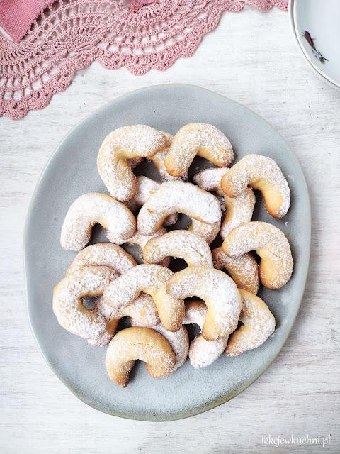Kruche ciasteczka maślane (rożki waniliowe) przepis
