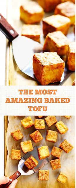 THE MOST AMAZING BAKED TOFU