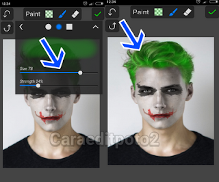 Cara edit foto face the joker di android
