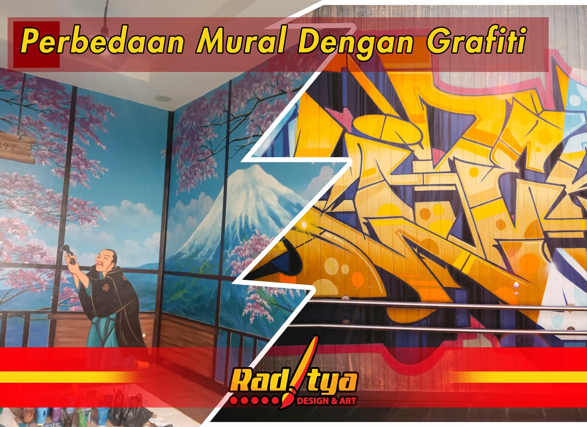 perbedaan mural dan grafiti