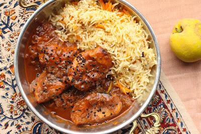 curry aux pommes ou aux coings cachemire