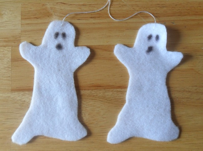 Felt Ghost and Spider Templates