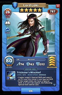 Lord Loki Empires and Puzzles Valhalla Hero