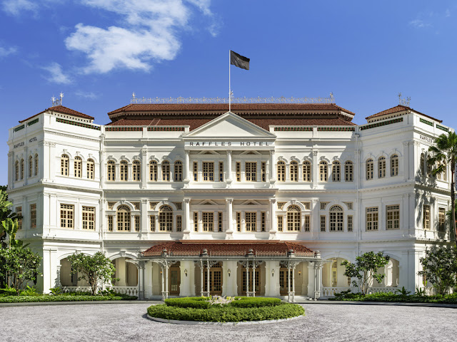 The Raffles Hotel is Elegant in Colonial Style