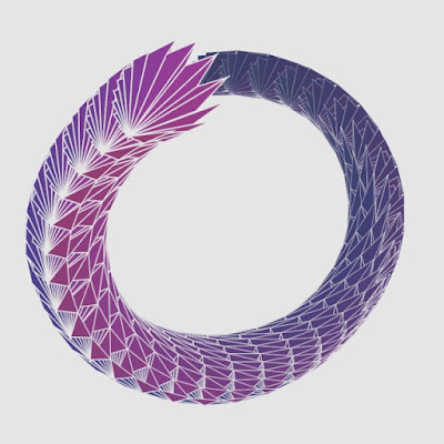 Ouroboros loop made with Processing code.