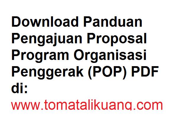 Panduan Pengajuan Proposal Program Organisasi Penggerak (POP) 2020 PDF tomatalikuang.com