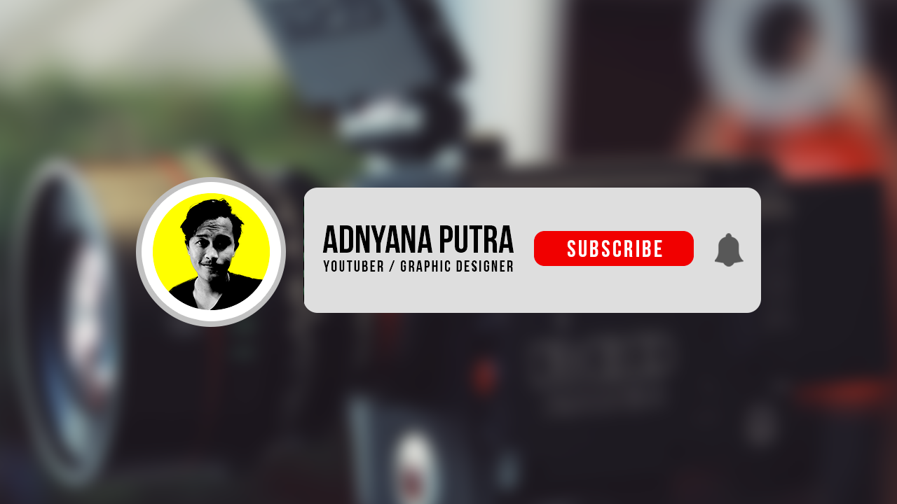 Free Subscribe Button Animation with Photo & Channel Name