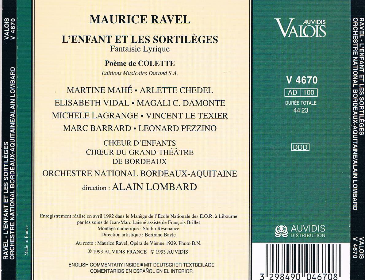 Afina Tus Oidos Ravel Lenfant Et Les Sortileges Lombard 1993