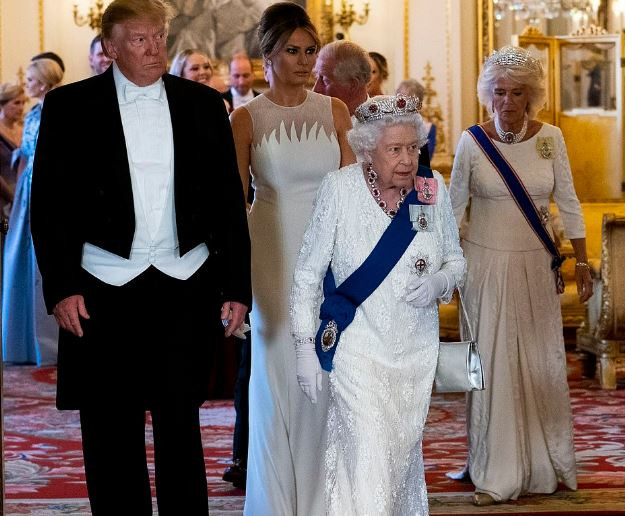 'The Queen has been fantastic' - Trump tweets his praise for the Royal Family as he attends State Banquet at the Palace