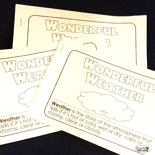 Weather activities for the primary classroom. Wonderful weather research reader. Differentiated non-fiction science readers for the classroom.