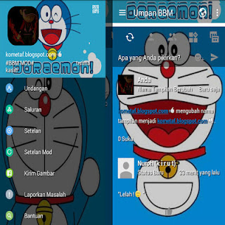 download BBM MOD Doraemon Blue v3.2.2.8 APK