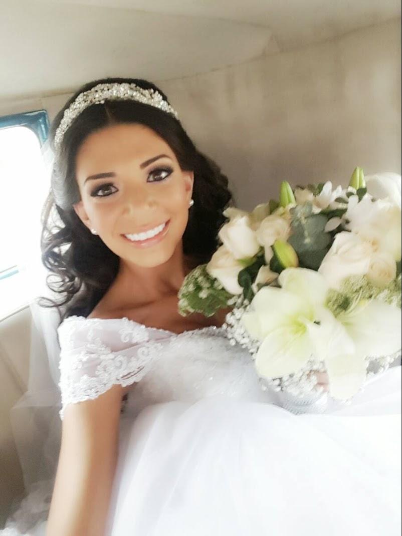 Anabel Angus vestida de novia
