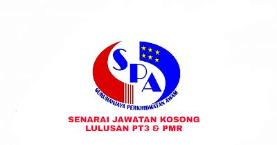 Senarai Jawatan Kosong Kerajaan Kelayakan PT3 dan PMR 2019