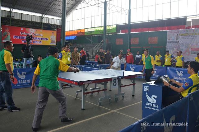 Wabup Arifin Buka Turnamen Tenis Meja se-Jawa Timur 2018