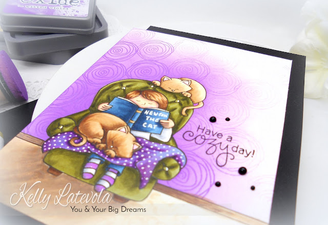 Have a Cozy Day Card by November Guest Designer Kelly Latevola | Cozy Day In Stamp Set by Newton's Nook Designs #newtonsnook #handmade