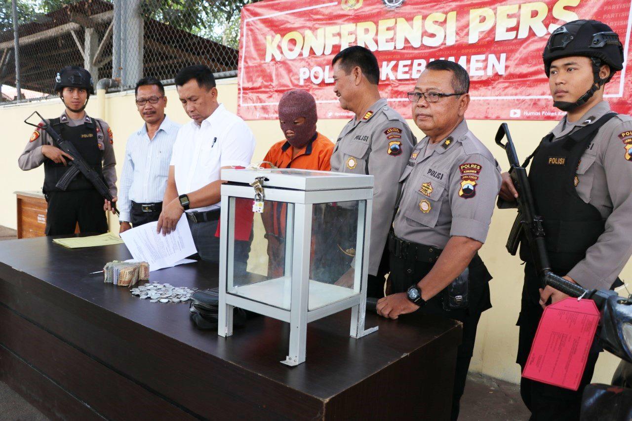 Congkel Kotak Amal Masjid SMP 1 Gombong, Pria Asal Banjarnegara ini Terancam 7 Tahun Penjara