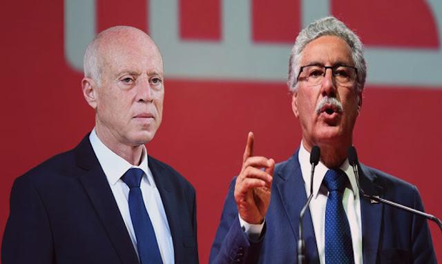 """حمه الهمامي: قيس سعيد كاد أن يقول لماكرون: """"سيدي رئيس الجمهورية التونسية"""""""