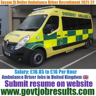Epsom St Helier Ambulance Driver Recruitment 2021-22