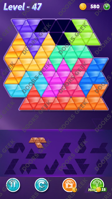 Block! Triangle Puzzle Grandmaster Level 47 Solution, Cheats, Walkthrough for Android, iPhone, iPad and iPod