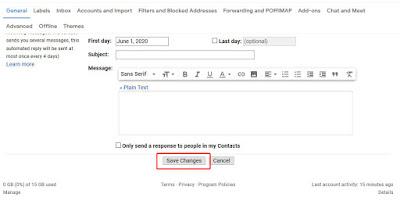 Membuat tanda tangan di email