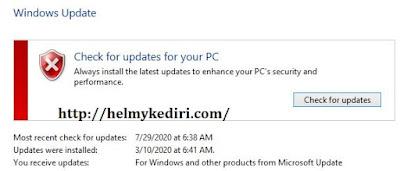 Jalankan windows update