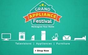 Flipkart Grand Appliances Festival – Great Deals on Large & Small Home & Kitchen Appliances & Furniture