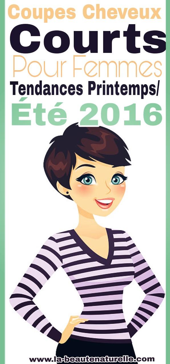 Coupes cheveux courts pour femmes tendances printemps/été 2016