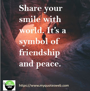 Share your smile with world | quotes on smile