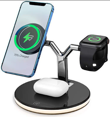 RAEGR MagSafe Trio Arc M1700 3-in-1 Wireless Charging Stand price in India