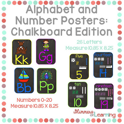 https://www.teacherspayteachers.com/Product/Alphabet-and-Number-Posters-Chalkboard-Inspired-2625263
