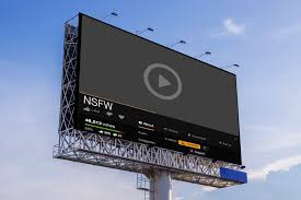 this is a digital electronic billboard used for digital marketing.