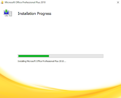proses instal microsoft office 2010
