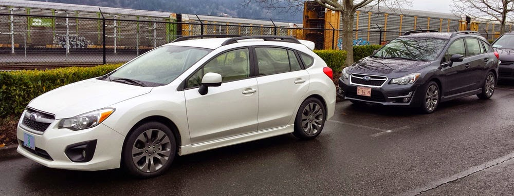 2014 vs 2015 Subaru Impreza Sport