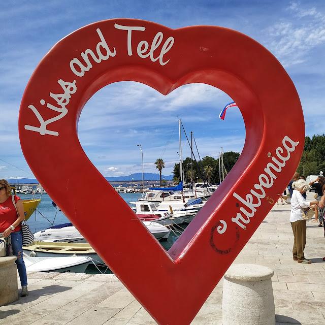 Crikvenica serce do robienia pamiątkowych zdjęć, Chorwacja