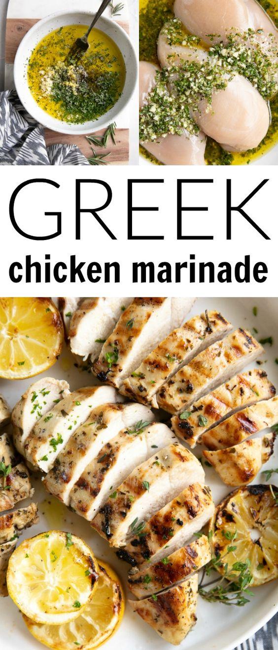The Best Greek Chicken Marinade