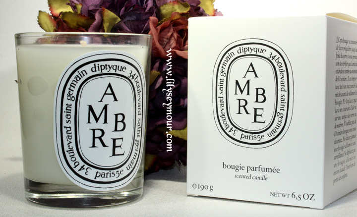 Diptyque Candles in Ambre