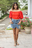 Rhea Chakraborty in Red Crop Top and Denim Shorts Spicy Pics ~  Exclusive 235.JPG