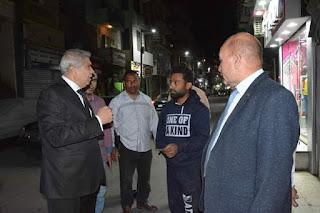 جولات مستمرة لمحافظ المنيا لمتابعة الحالة العامة بعدد من الشوارع ويشدد على رفع الإشغالات