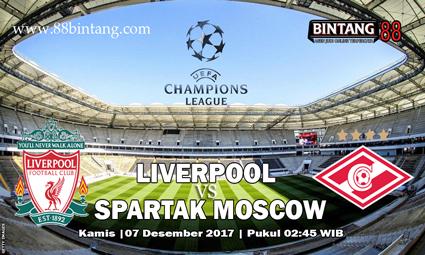 Prediksi Liverpool vs Spartak Moscow 07 Desember 2017