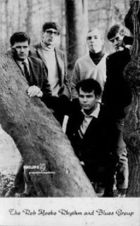 Publicity shot from Phonogram Records of the first line-up of the Rob Hoeke R&B Group (L-R Paul Hoeke, John Schuursma, Kees Kuypers, Frans Hoeke, Rob Hoeke)