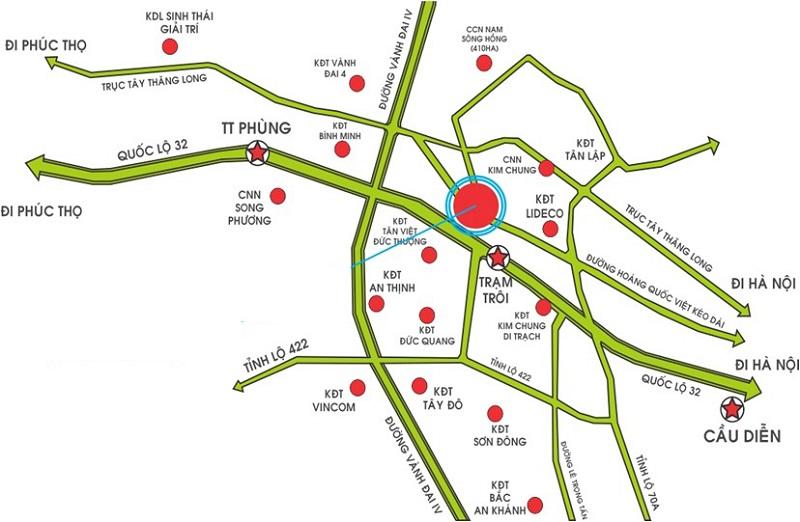 Vị trí của dự án Hà Sơn Tower thuận tiện kết nối