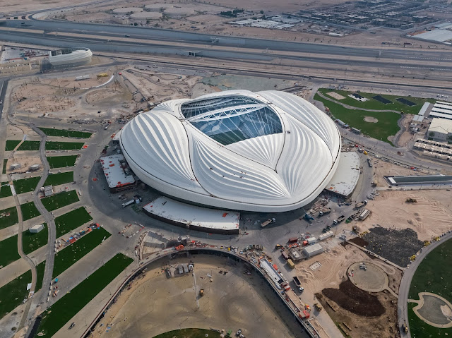 Al Wakrah stadium from outside