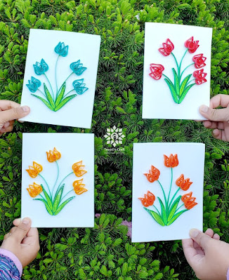 Paper Quilling Tulip Cards